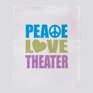 Peace Love Theater Throw Blanket