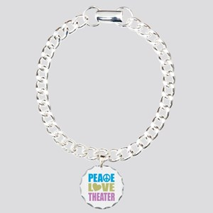 Peace Love Theater Charm Bracelet, One Charm