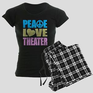 Peace Love Theater Women's Dark Pajamas