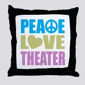 Peace Love Theater Throw Pillow