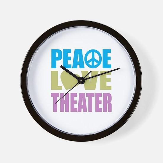 Peace Love Theater Wall Clock