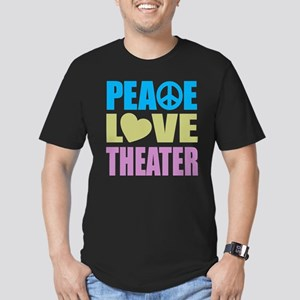 Peace Love Theater Men's Fitted T-Shirt (dark)