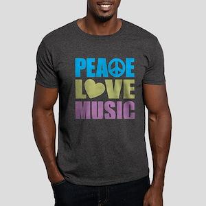 Peace Love Music Dark T-Shirt