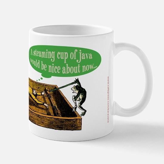 Frog Steaming Java Mug