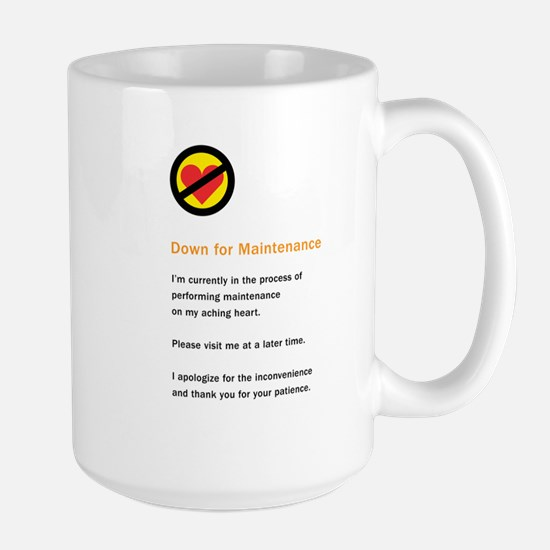 Down for Maintenance Large Mug