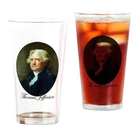 Thomas Jefferson Drinking Glass