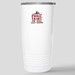 Unless You Puke, 16 oz Stainless Steel Travel Mug