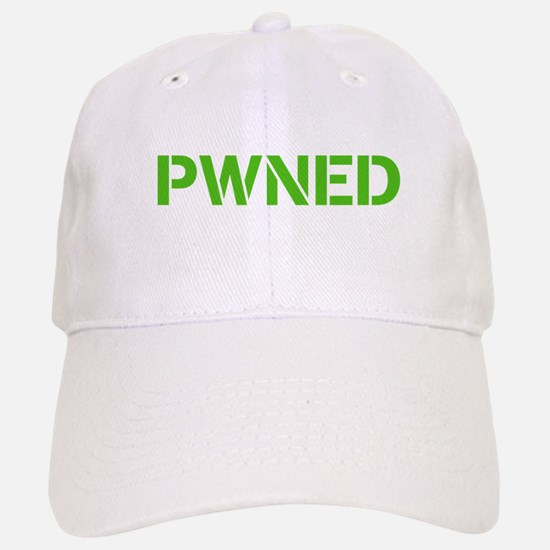 PWNED White Baseball Baseball Cap