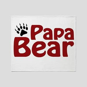 Papa Bear Claw Throw Blanket