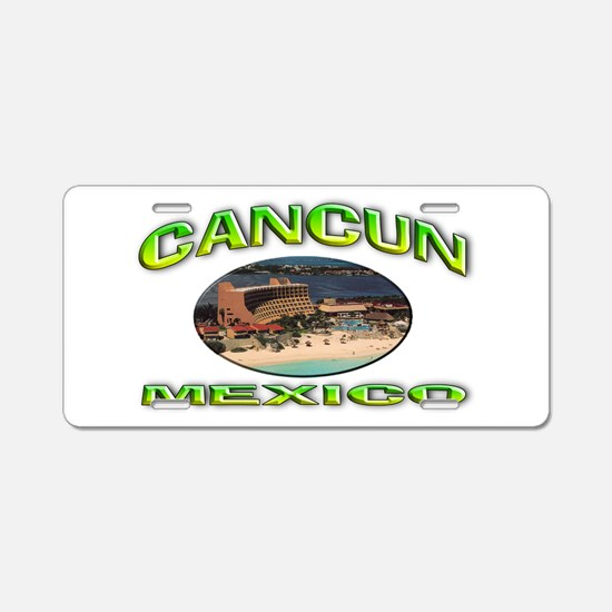 Cancun, Mexico Aluminum License Plate
