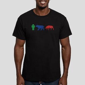 ManBearPig Men's Fitted T-Shirt (dark)