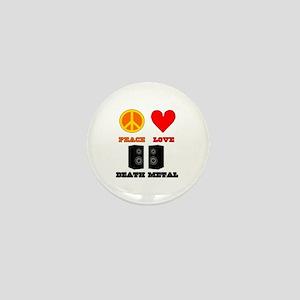 Peace Love Death Metal Mini Button