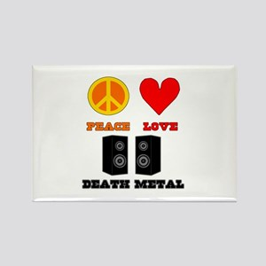 Peace Love Death Metal Rectangle Magnet