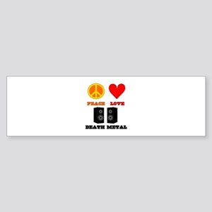 Peace Love Death Metal Sticker (Bumper)