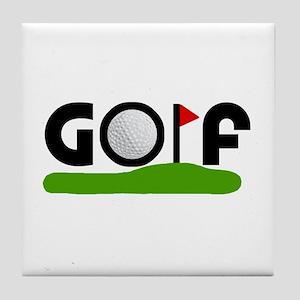 'Golf' Tile Coaster
