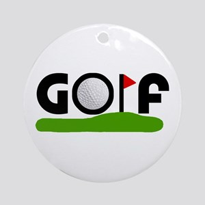 'Golf' Ornament (Round)