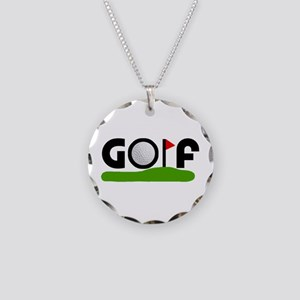'Golf' Necklace Circle Charm