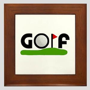 'Golf' Framed Tile