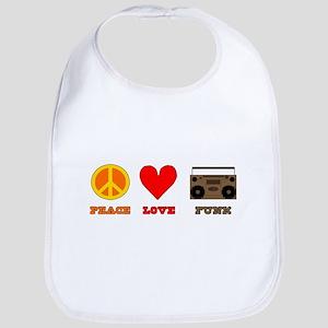 Peace Love Funk Bib