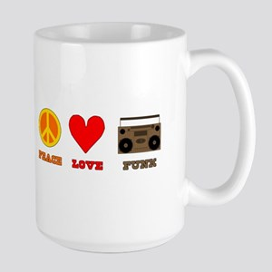 Peace Love Funk Large Mug