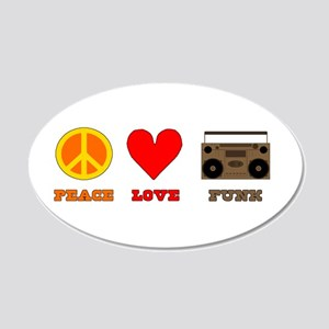 Peace Love Funk 22x14 Oval Wall Peel