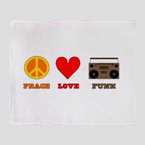 Peace Love Funk Throw Blanket