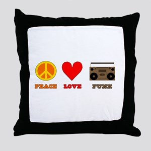 Peace Love Funk Throw Pillow