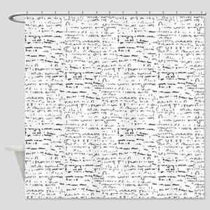 Whiteboard small Shower Curtain