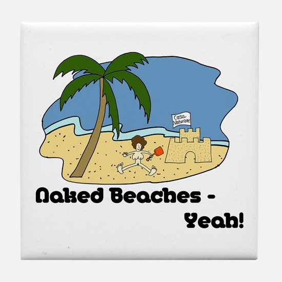 Naked Beaches - Yeah! Tile Coaster