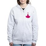 Cancer Awareness Cure Women's Zip Hoodie