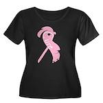 Cancer A Women's Plus Size Scoop Neck Dark T-Shirt