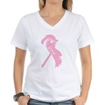 Cancer Awareness Cure Women's V-Neck T-Shirt