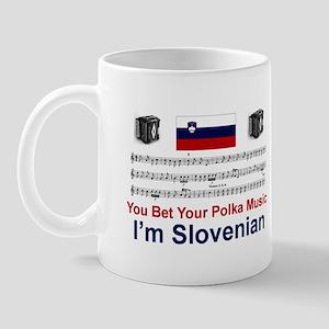 Slovenian Polka Music Mug
