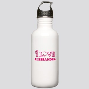 I Love Alessandra Stainless Water Bottle 1.0L