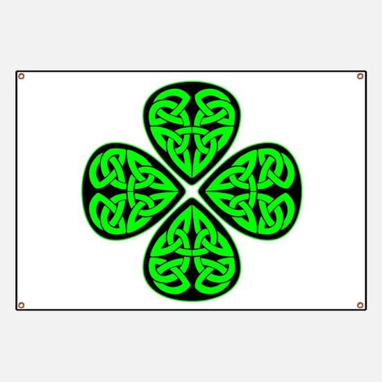 4 Leaf Celtic Banner