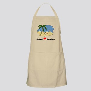 I Love Naked Beaches Apron