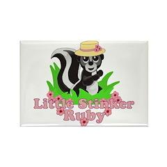Little Stinker Ruby Rectangle Magnet (100 pack)