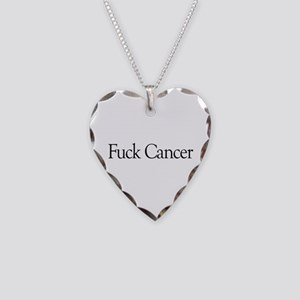 Fuck Cancer Necklace Heart Charm