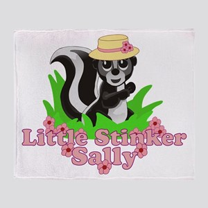Little Stinker Sally Throw Blanket