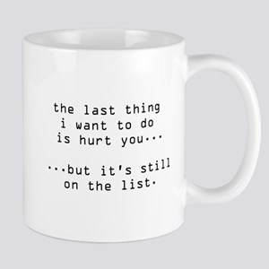 hurt you Large Mugs
