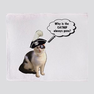 Pirate Cat Throw Blanket