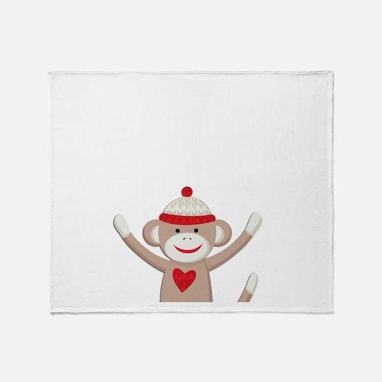 Sock Monkeys Throw Blanket