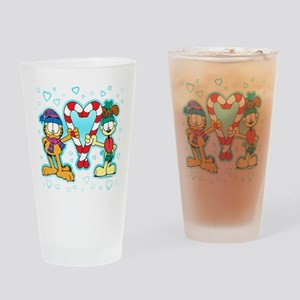 Garfield Candy Cane Glass Tumbler