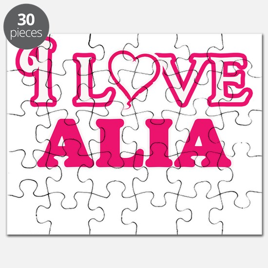 I Love Alia Puzzle