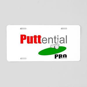 PUTTential golf pro Aluminum License Plate