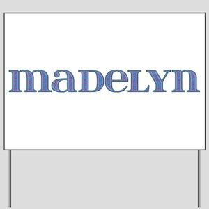 Madelyn Blue Glass Yard Sign
