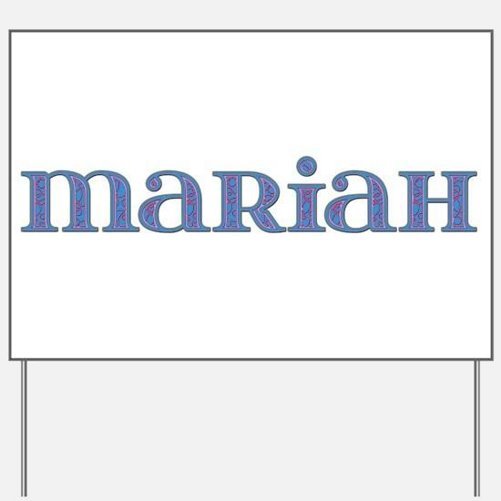 Mariah Blue Glass Yard Sign