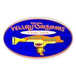 Yellow SubMorons Oval Sticker