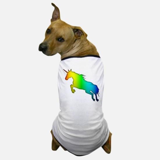 Rainbow Unicorn Dog T-Shirt