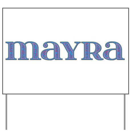 Mayra Blue Glass Yard Sign